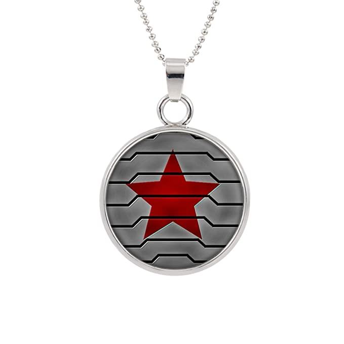 Amazon.com: Invierno soldado Logo collar colgante Marvel ...