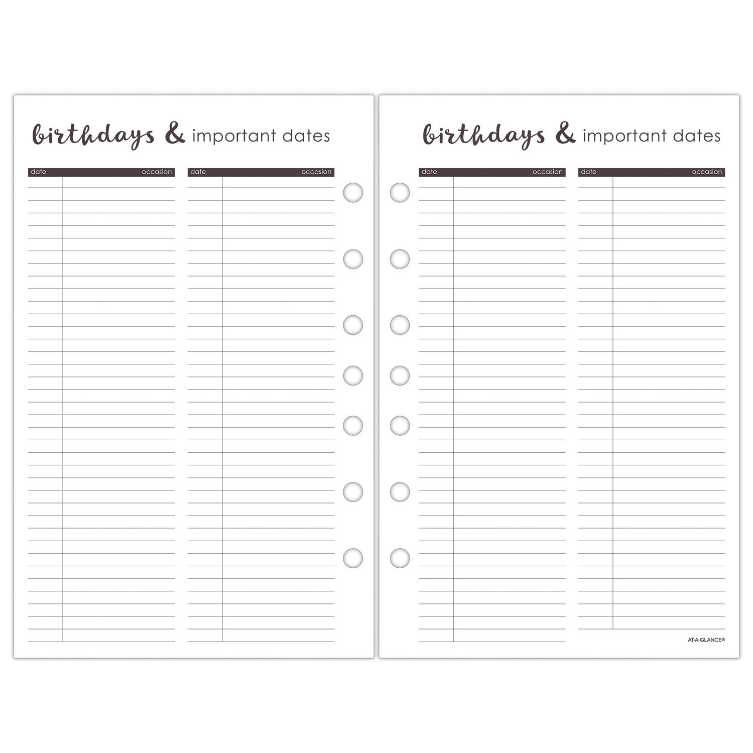amazon com at a glance 2019 monthly planner refill 5 1 2 x 8 1 2 rh amazon com
