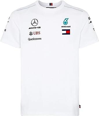 Mercedes AMG F1 Team Driver Puma Camiseta Blanco Oficial 2018: Amazon.es: Ropa y accesorios