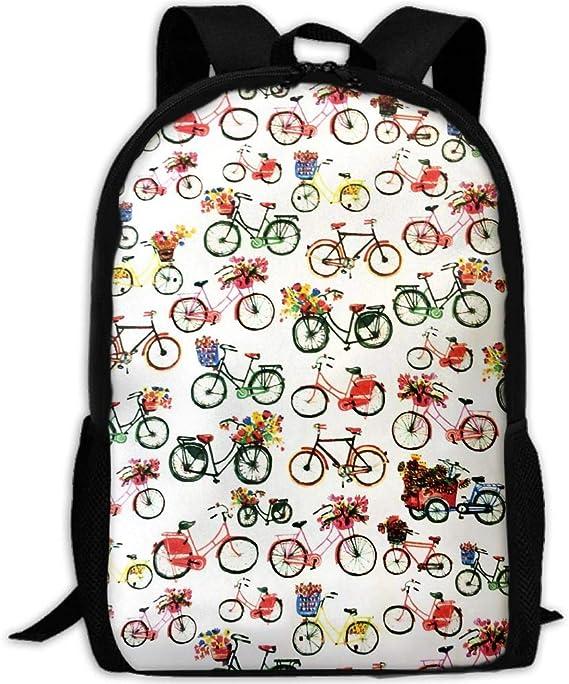 Phyllis Walker Mochila Bicicleta Flores Impresión Moda Colegio ...