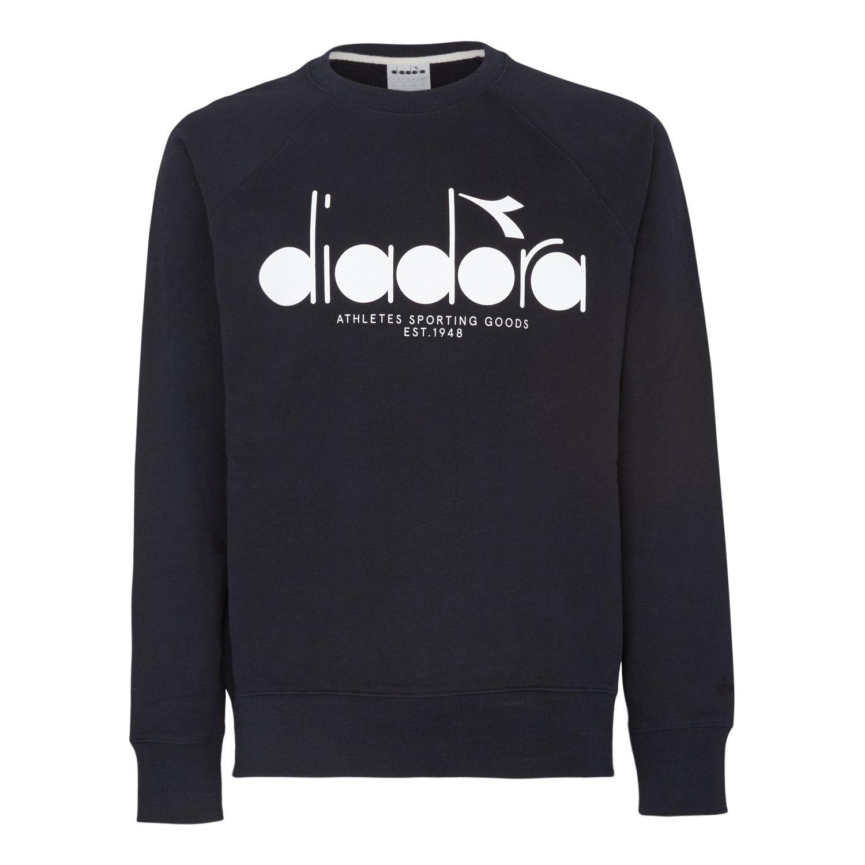 Diadora Herren Crew 5palle Sweatshirt, Grau