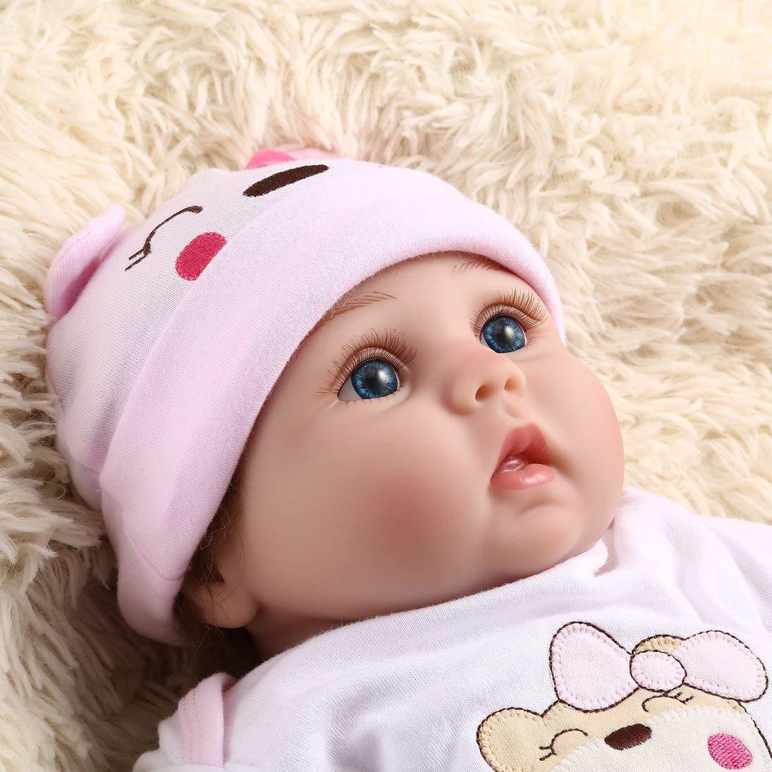 ToGames-IT 55CM 6PCS Set Reborn Baby Doll Bambola realistica Bambola Appena Nata Ragazza Migliore Regalo