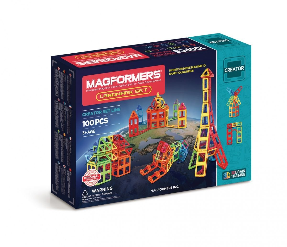 Magformers–Landmark, Set of 100Magnetic Parts (703008) by Magformers (Image #1)