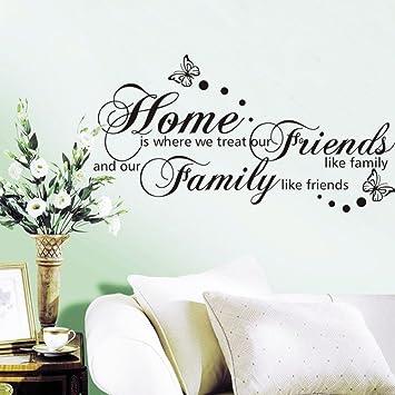 sprüche über familie englisch Weaeo 56 X 107 cm Zuhause Ist, Wo Wir Freunde Wie Familie Englisch  sprüche über familie englisch