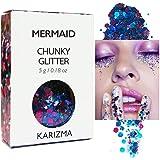 Mermaid Chunky Glitter ✮ KARIZMA BEAUTY ✮ Festival Glitter Cosmetic Face Body Hair Nails