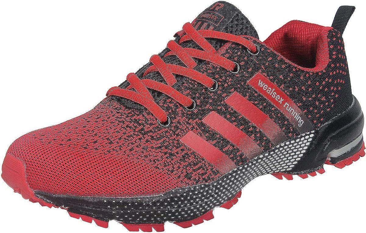 Wealsex Zapatos para Correr En Montaña Asfalto Aire Libre Deportes Zapatillas De Running para Hombre