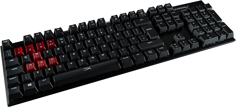 HyperX Alloy FPS - Teclado (Alámbrico, USB, Interruptor mecánico, QWERTY, LED, Negro)