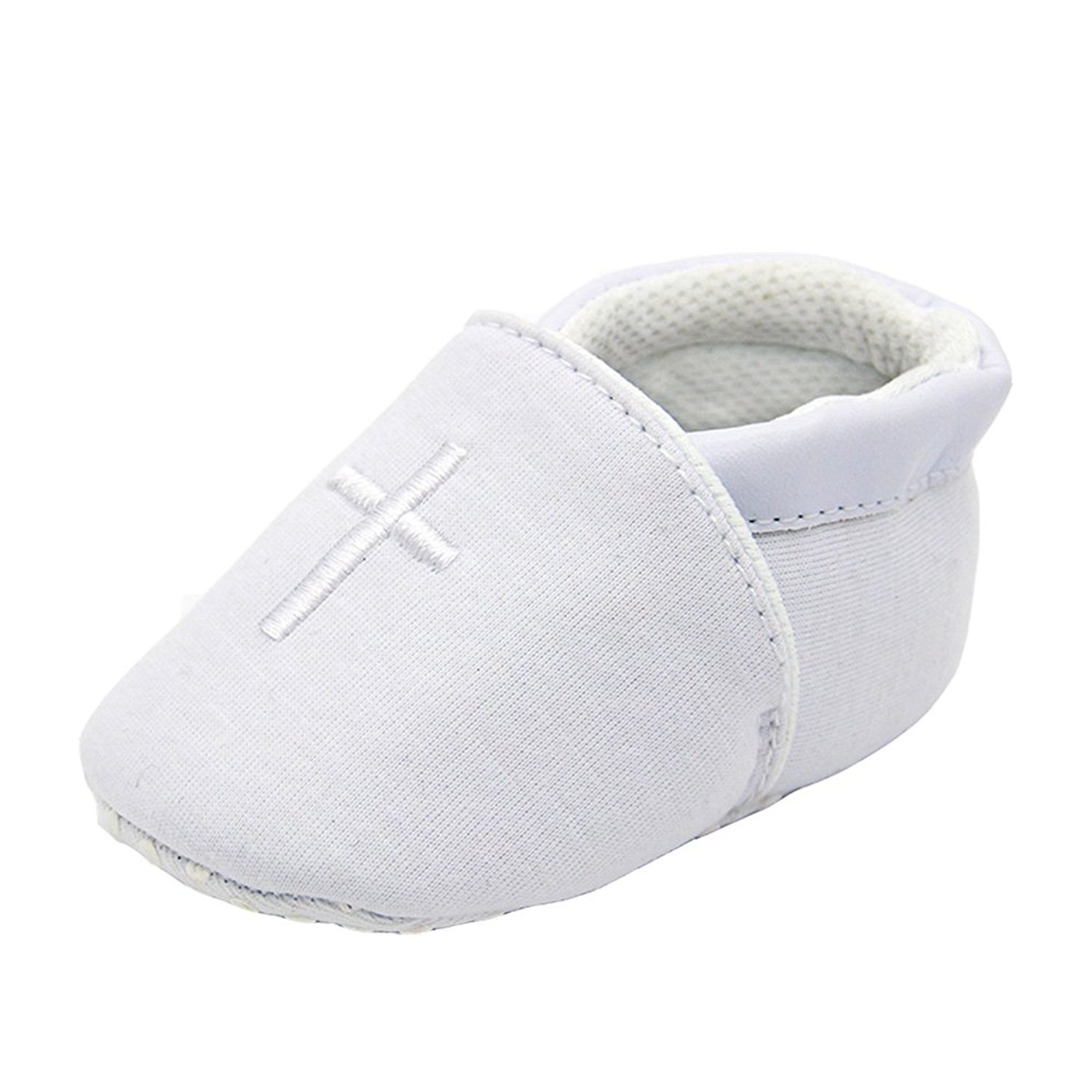 Aorme Christening Shoes with Cross Soft Sole Infant Prewalker Toddler Sneaker