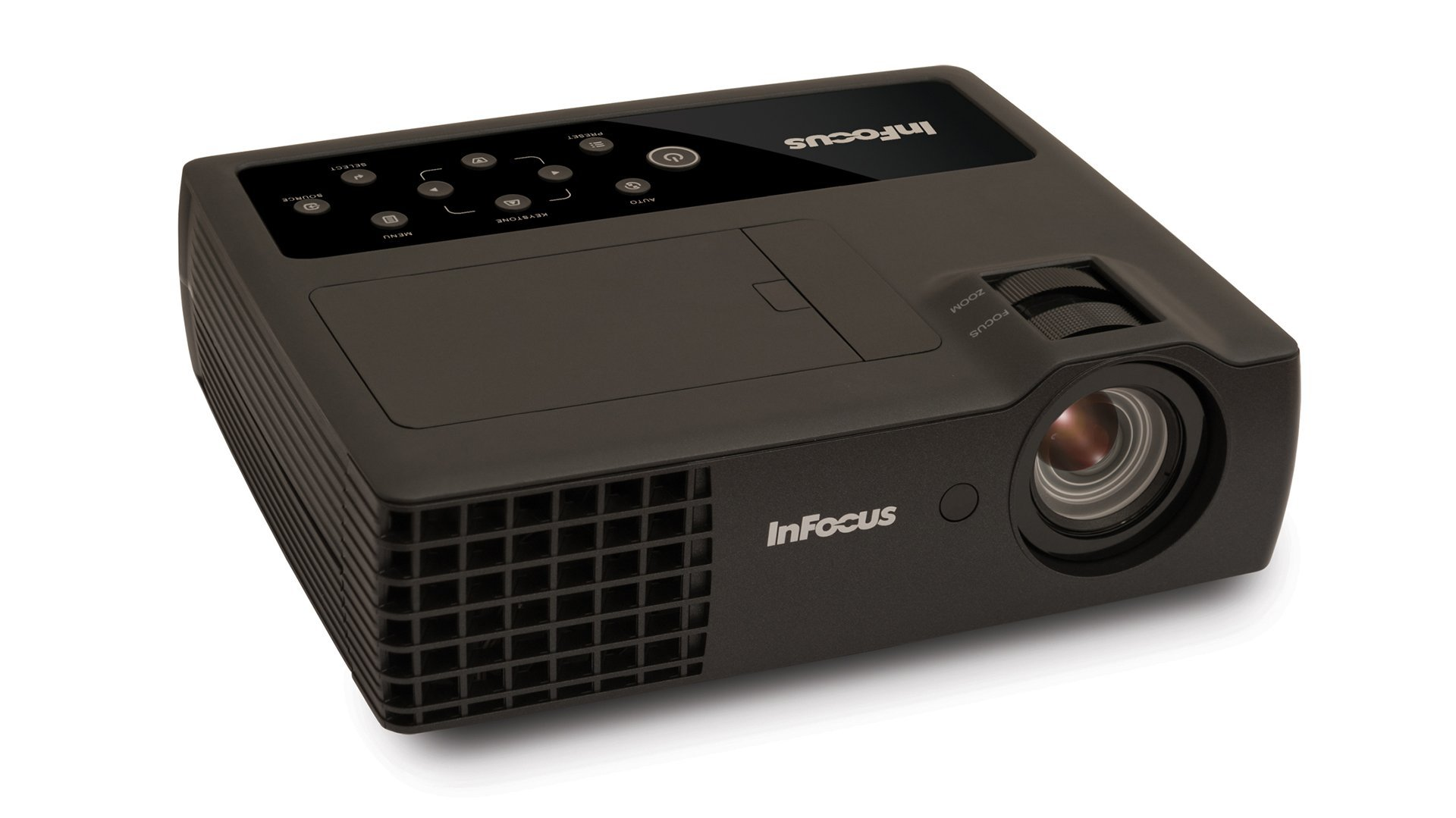 InFocus Corporation IN1118HD 1080p DLP Mobile Projector, HDMI, 3.5 lbs, 4GB Storage, 2400 Lumens
