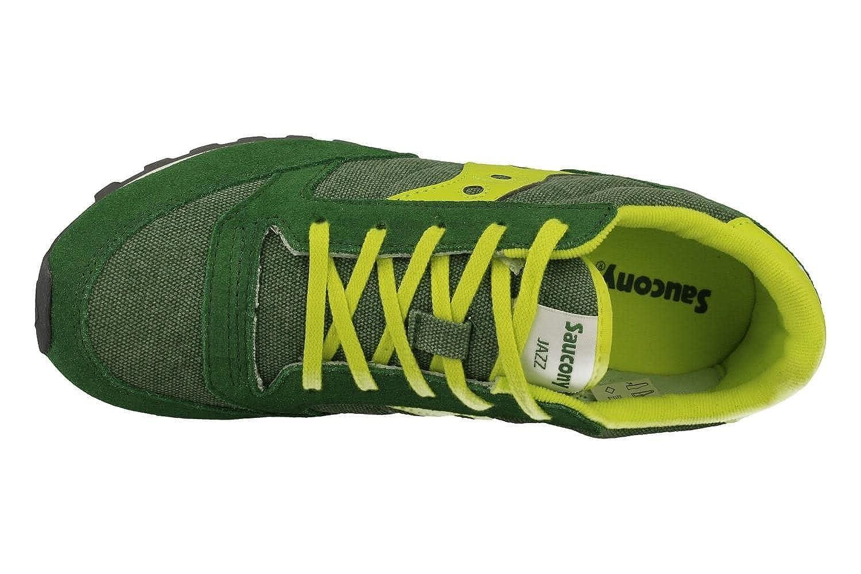 Sol Nuevo Lanzamiento SAUCONY SY55552 JAZZ green yellow verde scarpe ragazzo boy laccio 35.5 GWCBPW