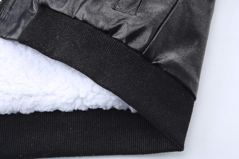 Mud Kingdom Boys Leather Jacket Fur Lined with Hood SS0282