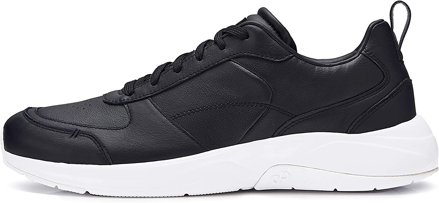 CARE OF by PUMA Men's Leather Low-Top Casual Trainer, (Black), 9 UK,Care of by PUMA,372885