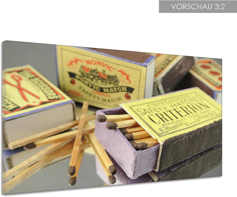 Lienzo fuego zündholz Cerillas Caja Retro Top Póster Impresión de uu0370, lona, 160x120: Amazon.es: Hogar