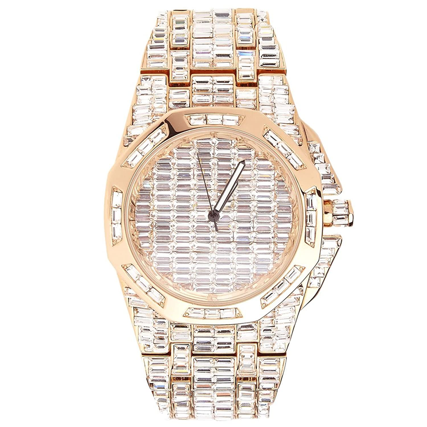 High Quality FULL ICED OUT CZ Uhr - CIAO rose gold