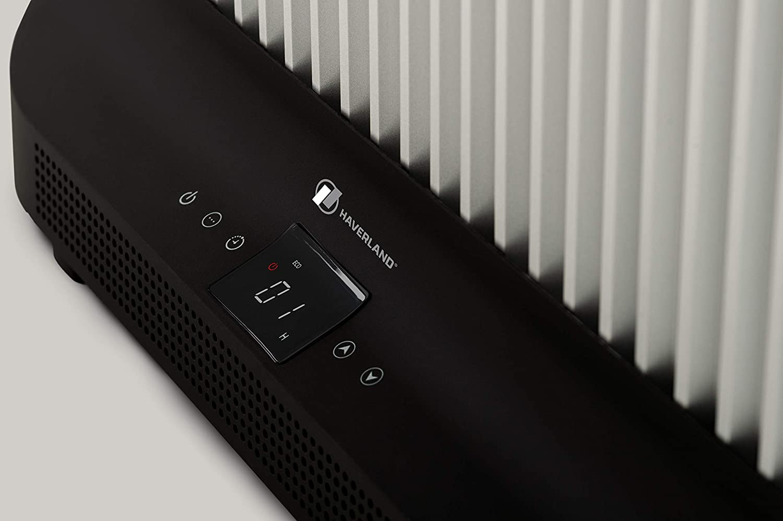Haverland IDK-1 Termostato Regulable Incluye Mando a Distancia Panel Touch Control Blanco Bajo Consumo Emisor Port/átil de Fibra de Carbono 2000 W