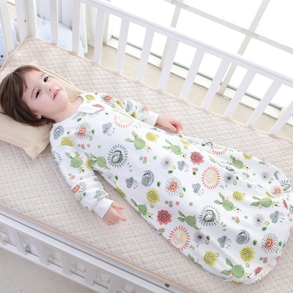 Floral Detachable Sleeve Organic Cotton Baby Sleep Bag Sack Wearable Blanket M by The morning (Image #1)