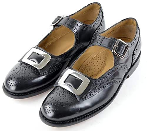 the best attitude 479759a19d Mens Leather Scottish Buckle Ghillie Kilt  Brogues UK 7 Amazon.co ... 2f07995bf68d