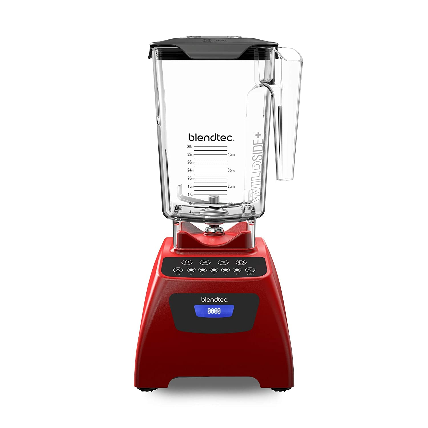 Blendtec Classic 575 Blender - WildSide+ Jar (90 oz) - Professional-Grade Power - Self-Cleaning - 4 Pre-programmed Cycles - 5-Speeds - Poppy Red