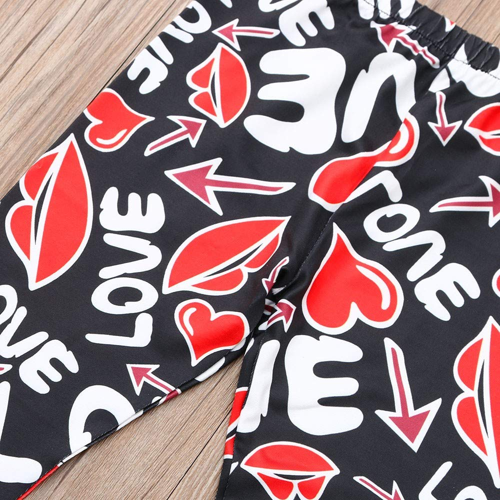 Winsummer Mom /& Me Christmas Trouser Mommy and Daughter Stretchy Skinny Yoga Pants Family Matching Legging Tights