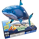 cooloh Remote Control Inflatable Balloon Air Swimmer Flying Shark Fish Radio Blimp (Blue Shark)