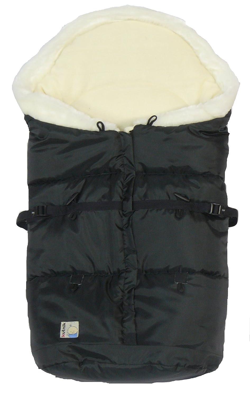 Kutnik UNIVERSAL FOOTMUFF/SLEEPING BAG COCOON POLAR with polar fleece (BLACK with CREAM with CREAM FUR)