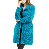 YACUN Women's Long Sleeve Single Breasted Casual Long Coat