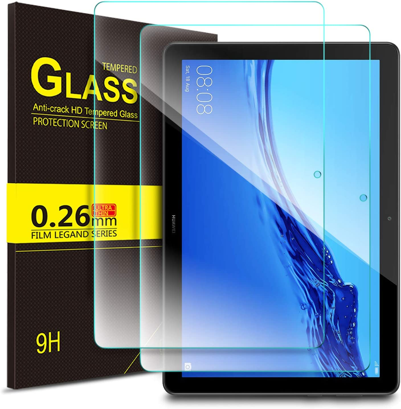 """2X Tempered Glass Film Screen Protector For Huawei MediaPad T5 10.1/""""inch Tablet"""