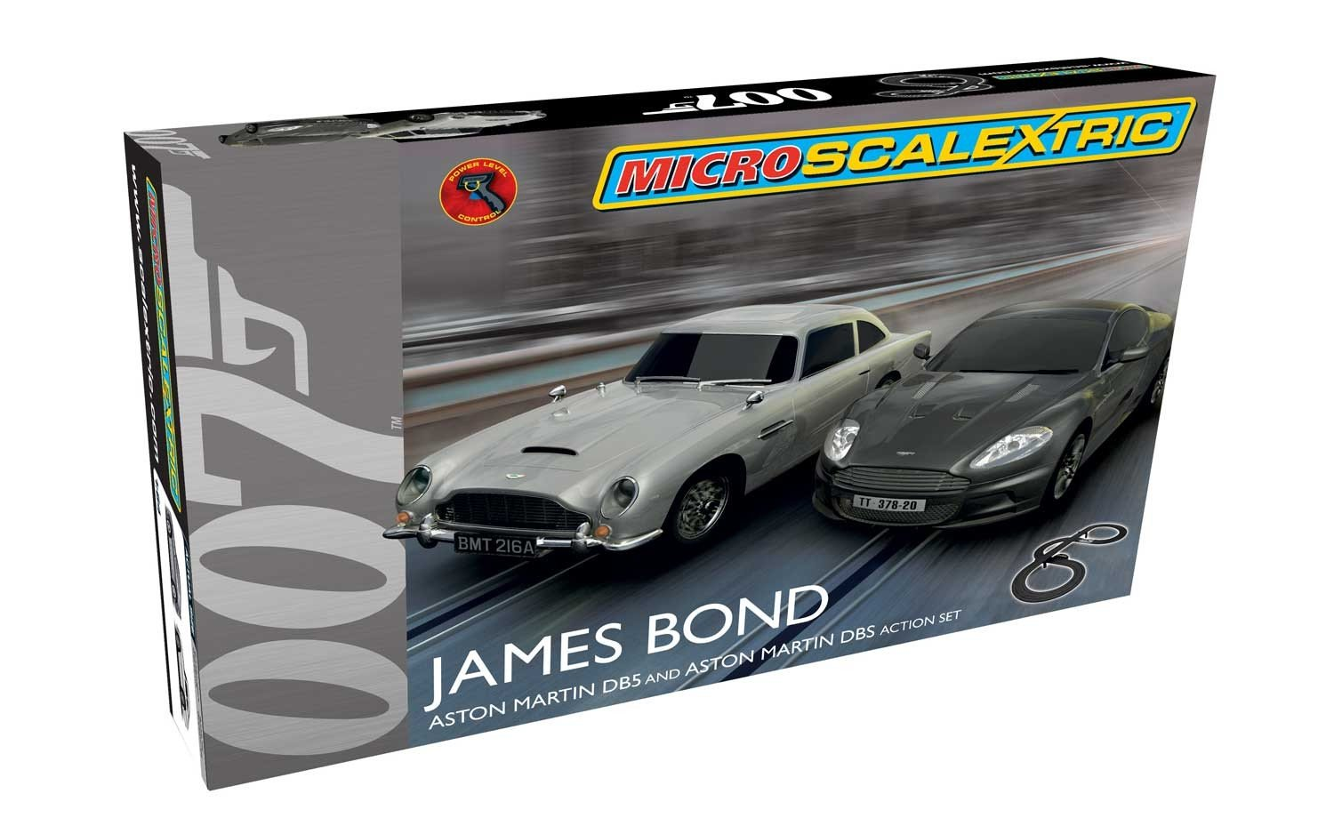 Scalextric James Bond Micro Slot Car Race Set 164 Ho Racing Track Power Wiring Scale Toys Games