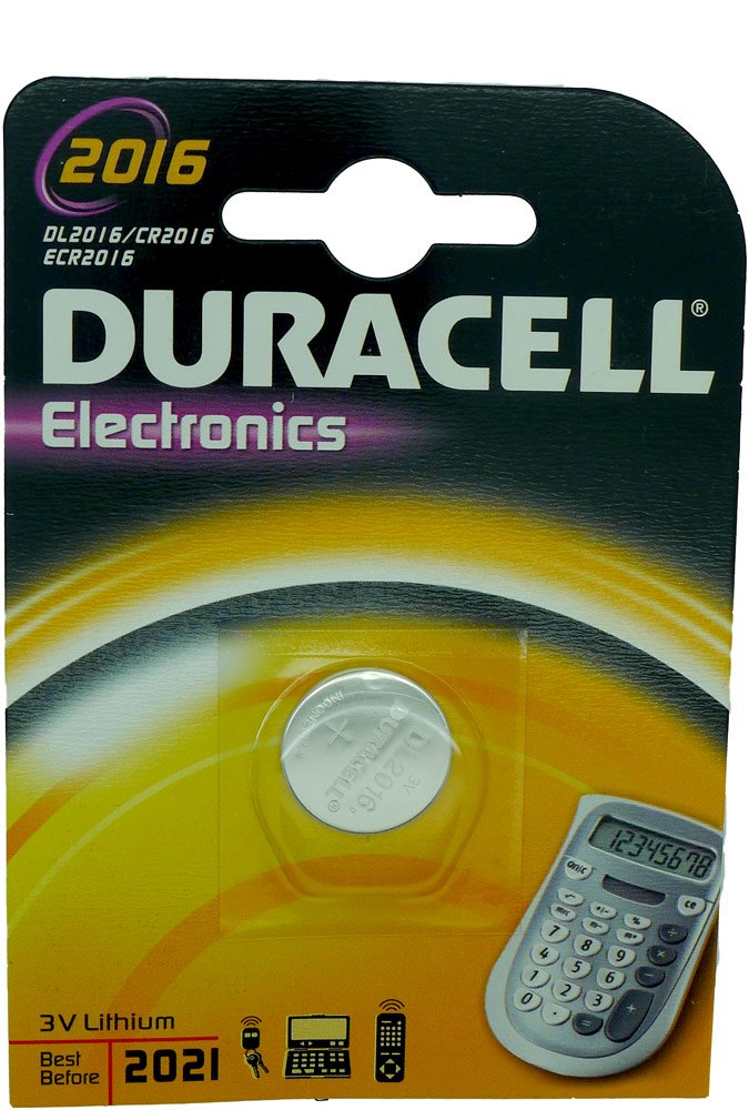 Chequers motorstore Coque té lé commande Duracell Piles CR2016 DL2016 Pile pour té lé commande de voiture 2016