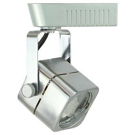 direct lighting brushed steel mr16 square low voltage track lighting