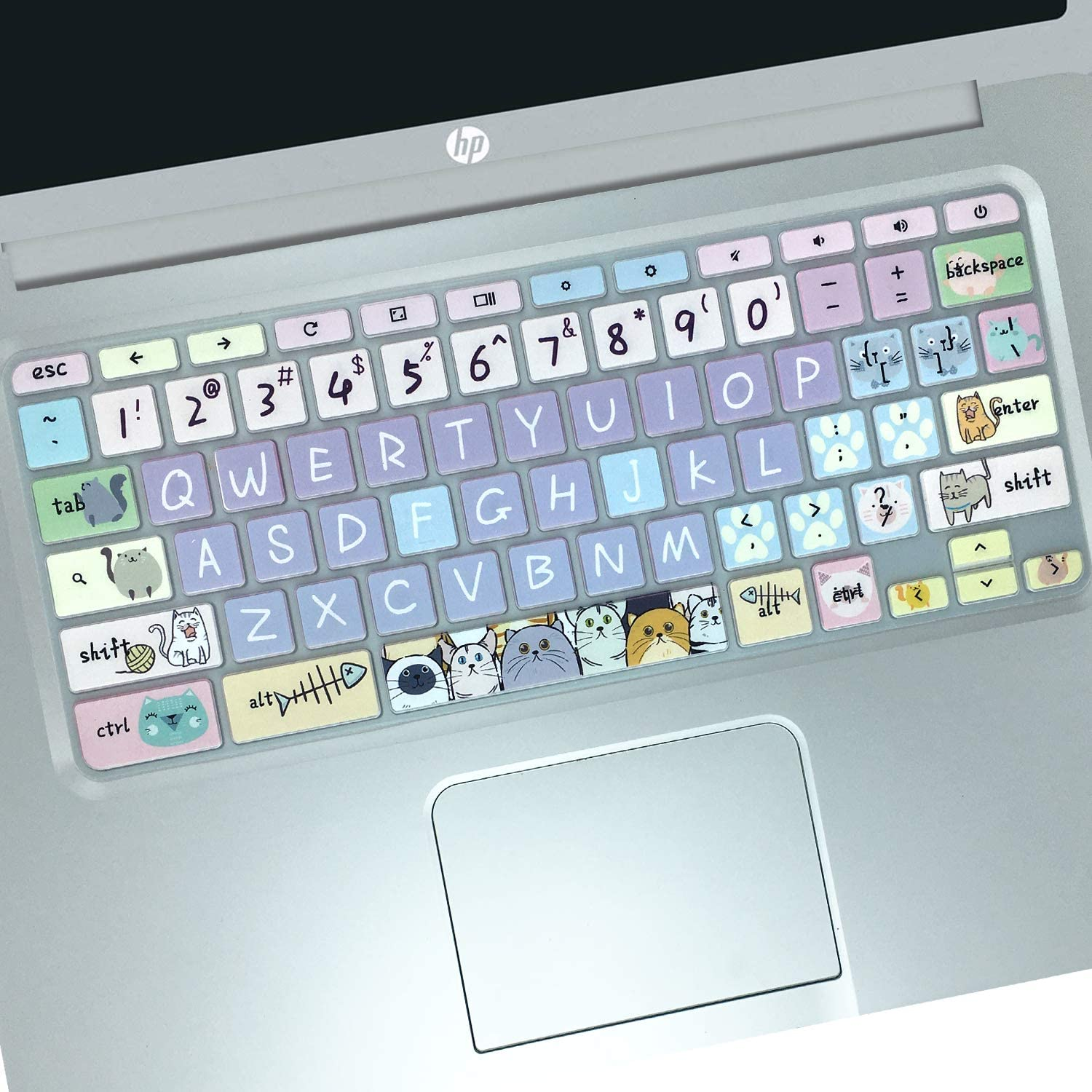 Silicon Keyboard Cover Skin for HP Chromebook 11 x360 11.6