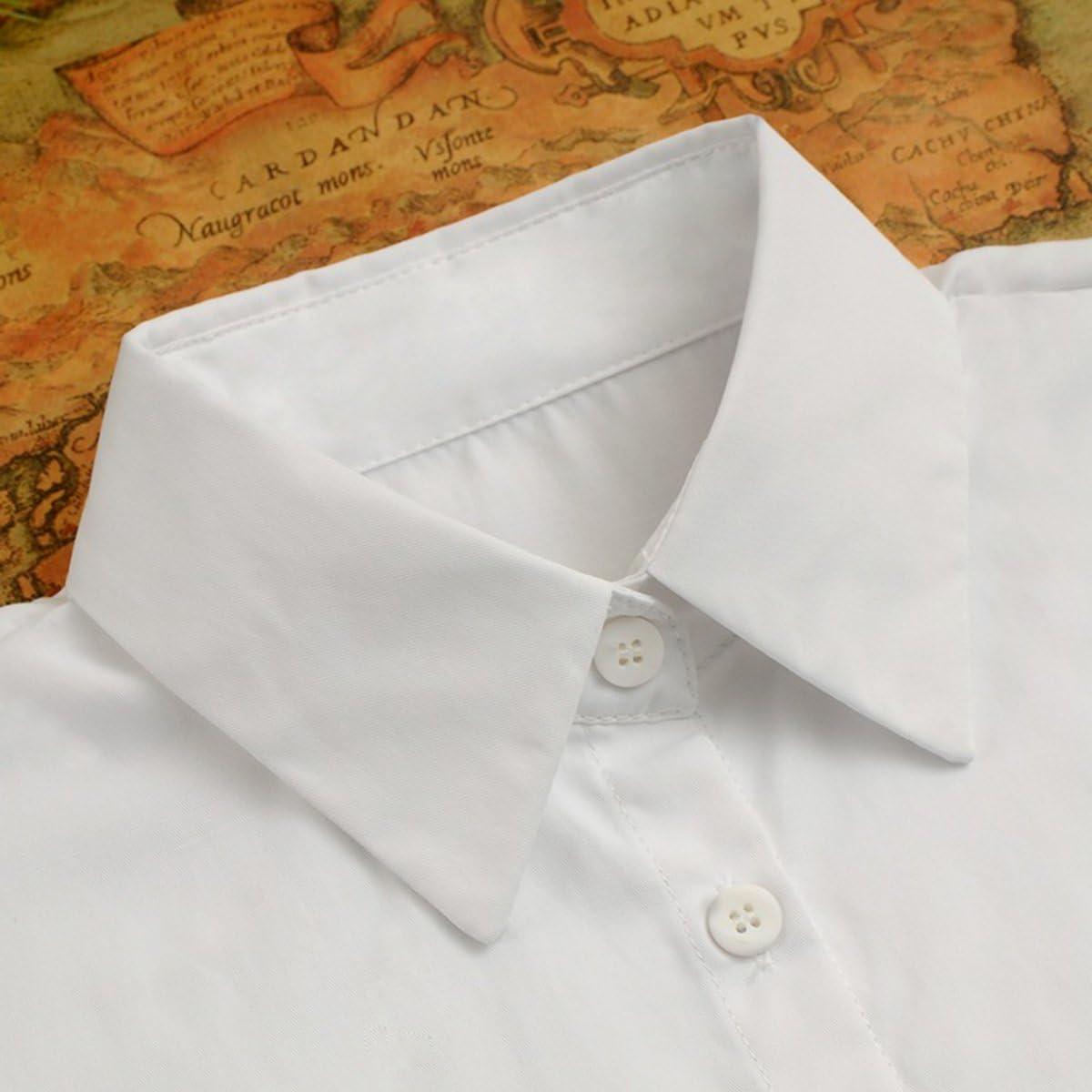 Tinksky Cuello Falso Desmontable Mitad Camisa Blusa para Mujeres (Blanco): Amazon.es: Deportes y aire libre