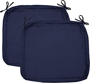 "Sigma Outdoor Seat Cushion Cover Water Repellent Patio Deep Seat Chair Cushion Cover-Only Cover Navy 25""x25""x5""(2 Covers)"