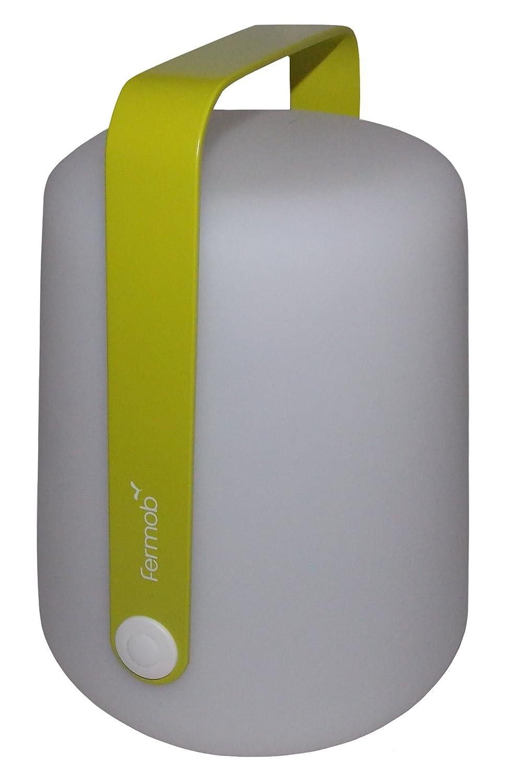 Fermob Balad mobile LED-Leuchte mit Akku, weiß aubergine Ø19cm H 25cm 2 Helligkeitsstufen + OFF