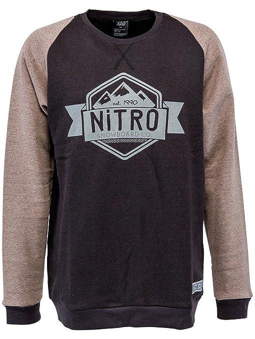 Nitro Snowboards – Sudadera para hombre Badge Crew Neck 16 negro xx-large