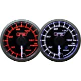 """Oil Pressure Gauge-with Peak and Warning Electrical Amber/white Premium Clear Lens White Pointer Series 52mm (2 1/16"""")"""