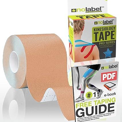 Beige Bande de kinésiologie - Kinesiology Tape Bandes Sport Strapping  Soutien Musculaire lors de practiques sportives ca4584bc5f2