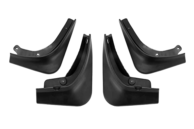 Splash Guard Flaps Fits Tesla Model 3 2017 Premium Heavy Duty Mud Flaps Set of 4 with Mounting Hardware 2018 2019 Durable ABS Plastic Rear Front Black Mud Guard Left and Right 2020