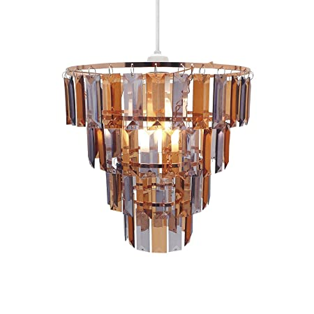 Easy fit universal copper and grey gem crystal light decoration easy fit universal copper and grey gem crystal light decoration ceiling lamp chandelier pendant aloadofball Image collections