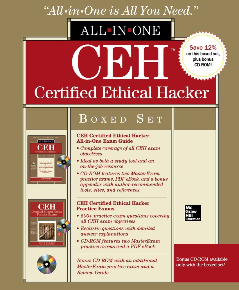 Ceh certified ethical hacker boxed set all in one amazon ceh certified ethical hacker boxed set all in one amazon matt walker 9780071811705 books xflitez Image collections