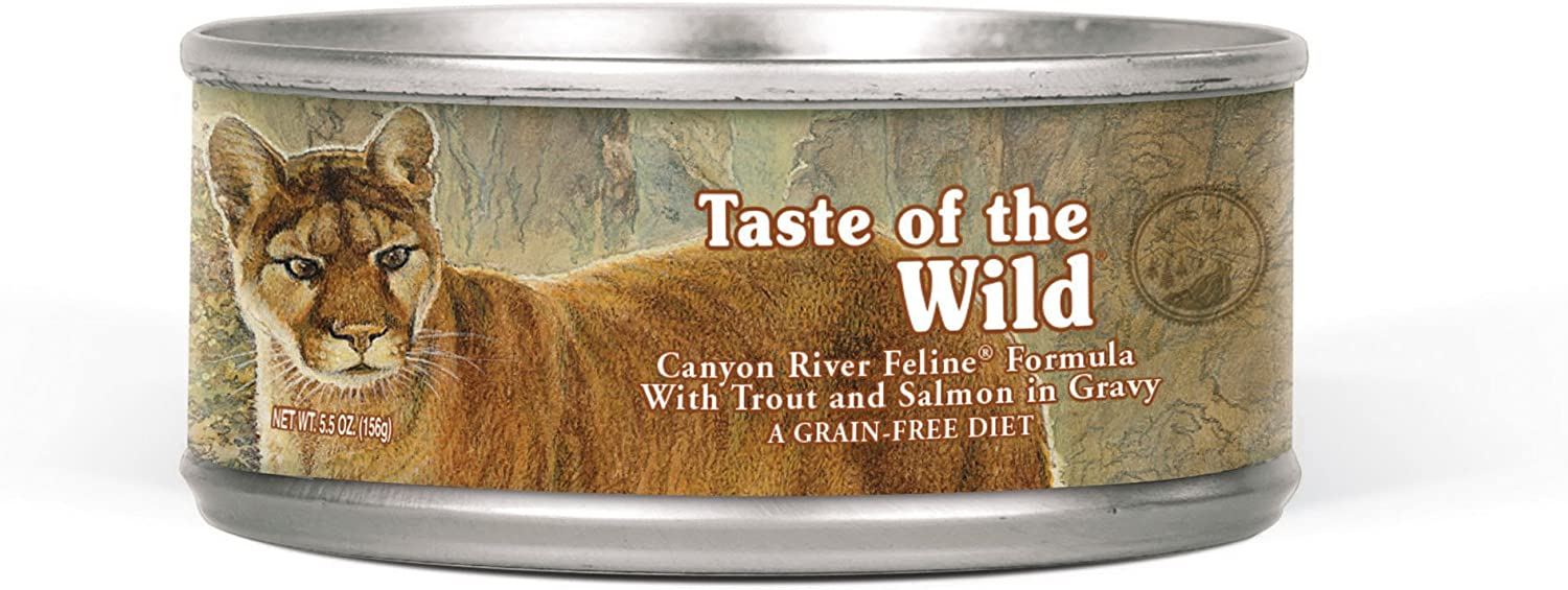 Taste of the Wild High Protein Real Meat Grain-Free Recipe Wet Canned Cat Food, Made With Premium Ingredients That Include Sources of Vitamins, Antioxidants and Essential Nutrients