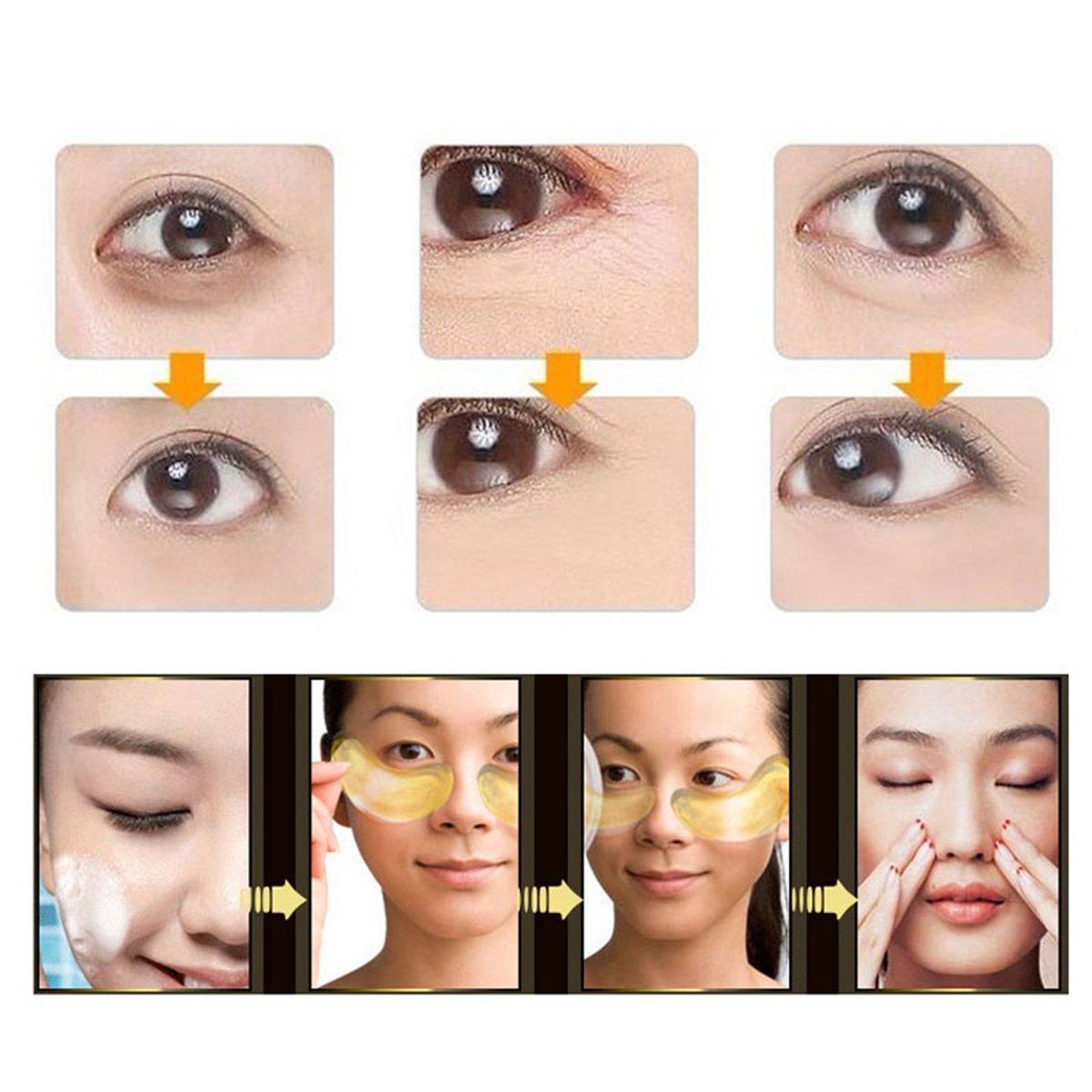 Amazon.com: Oro de 24 K ojo almohadillas para orejas 30 ...