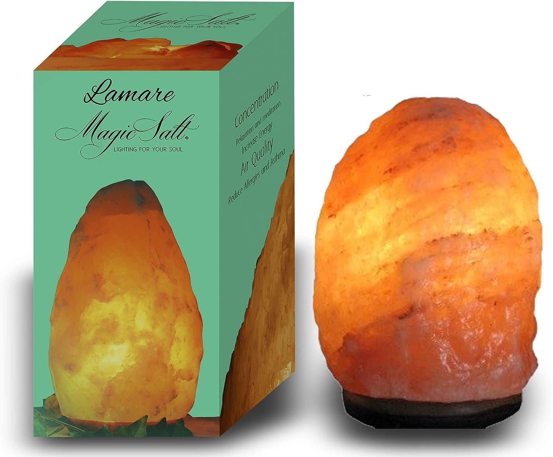 LAMARE Lampara de Sal Natural del Himalaya de Mesa de 1 a 2 kg…