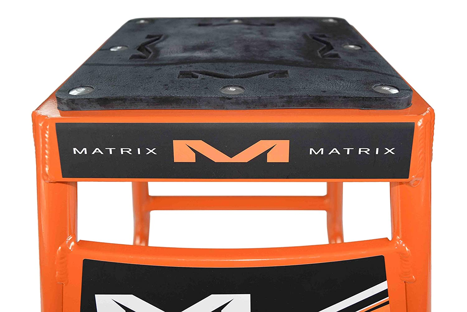 Matrix Concepts Motocross Mini A2 Aluminum Dirt Bike MX Stand w Limited Edition 25 Piece Sticker Kit White