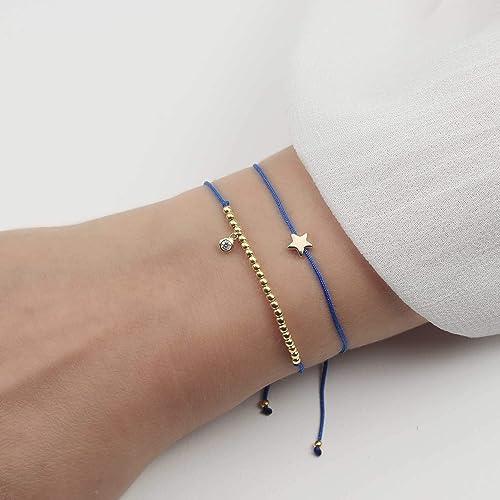 SCHOSCHON Damen Armband Set Stern Zirkonia 925 Silber