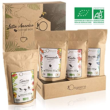 Color: ☘ Cafe En Grano Natural ○ Caja Regalo Cafe 4x250g ○ Granos de Cafe Arabica