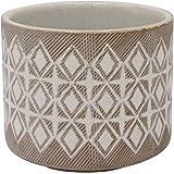"Amazon Brand – Rivet Geometric Ceramic Planter, 4.125""H, Prairie Sand"