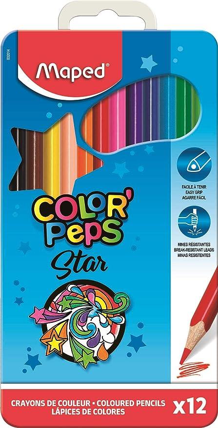 Maped 832014 - Estuche 12 lápices de colores en caja metálicaMAPED 832014: Amazon.es: Oficina y papelería