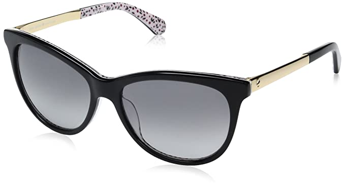 8dccb756ce Kate Spade Women s Jizelle s Square Sunglasses BLACK PATTERN RED DARK GRAY  GRADIENT 55