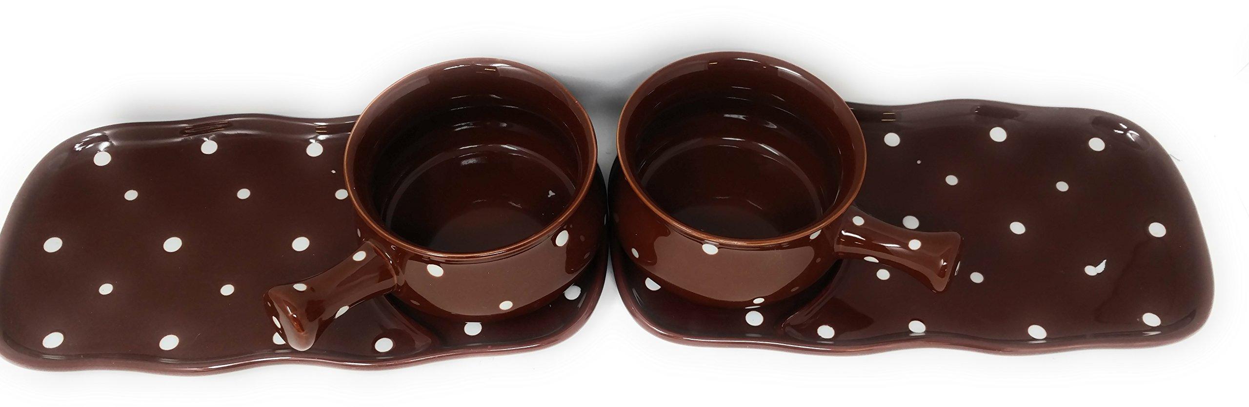Temp-tations Soup & Sandwich Set - 4pc (Polka Dot Chocolate)
